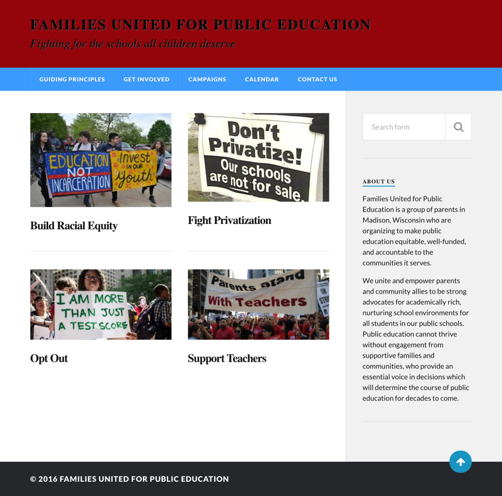 Families United for Public Education (2015)
